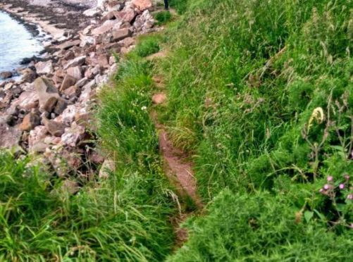 The coastal path could be repaired after the community council applied for permission.