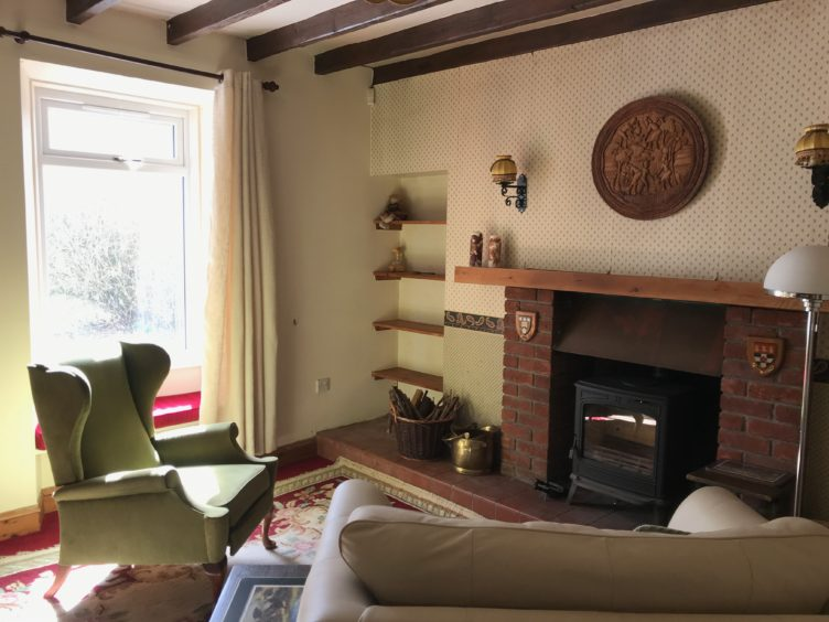 Sitting room in main house