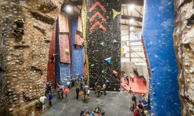 The climbing walls at Transition Extreme in Aberdeen.