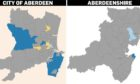 The maps show where the latest cases are in the north-east.