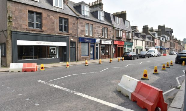 Measures were installed on Stonehaven's Beach Road.