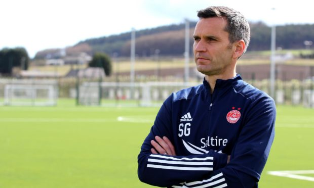 New manager Stephen Glass on his first day at Aberdeen. Supplied by Aberdeen FC