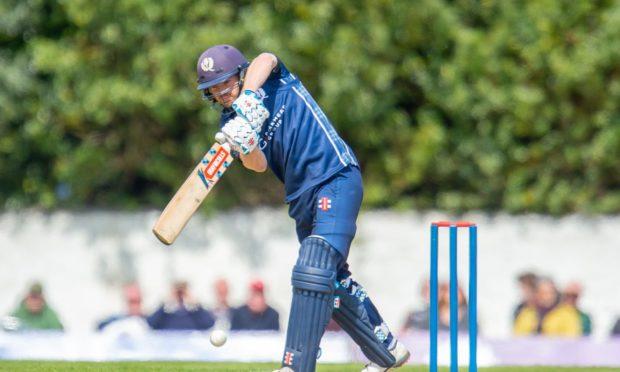 Matthew Cross batting for Scotland
