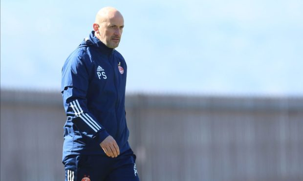 Aberdeen reserve team coach Paul Sheerin whilst in interim manager of the club.