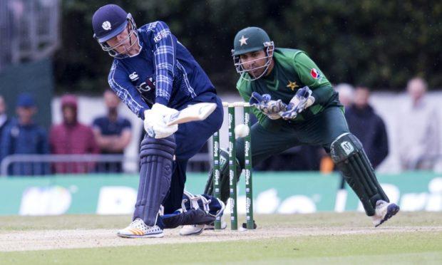 Michael Leask batting for Scotland.