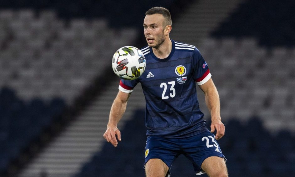 Andy Considine in action for Scotland.