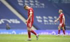 Aberdeen's Callum Hendry looks dejected  during the defeat to Rangers.
