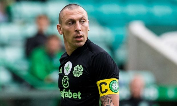 Scott Brown during the Scottish Premiership match between Hibs and Celtic.