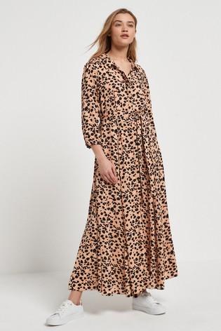 Belted Maxi Shirt Dress – Next, £48