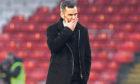 Aberdeen manager Stephen Glass after the defeat against Hibernian.