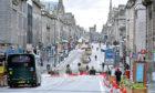 Quiet Wednesday in Union Street, Aberdeen.