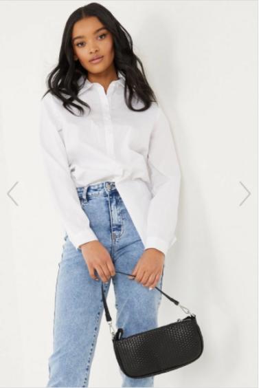 White Long Line Shirt – Quiz, £24.99