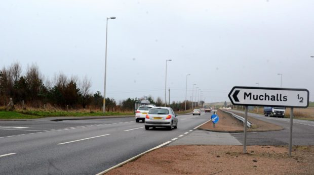 To go with story by Ellie Milne. Police appealing for information on dangerous driver Picture shows; A90 at Muchalls. Muchalls. Supplied by Emma Speirs Date; 21/12/2013