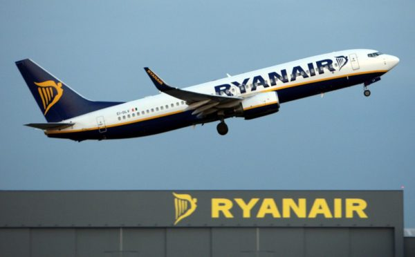 File photo dated 31/03/09 of a Ryanair Jet taking off from Stansted Airport. The no-frills airline is to add 25p to all bookings from next week to cover the cost of the European Emissions Trading System (ETS) green tax scheme. PRESS ASSOCIATION Photo. Issue date: Thursday January 12, 2012. Ryanair, which will bring in the levy from Tuesday January 17, described ETS as an 'eco-looney tax'. See PA story AIR Tax. Photo credit should read: Chris Radburn/PA Wire