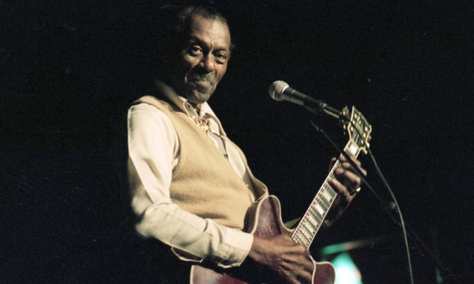 Smile for the camera... US music legend Chuck Berry in action at the Capitol in 1995.