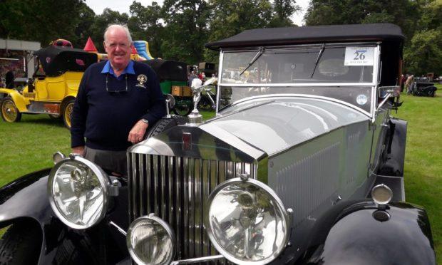 David Robertson with his vintage Rolls-Royce.