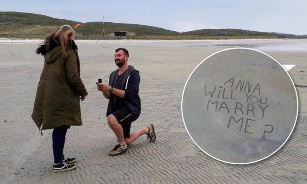 Jamie Forde used his love of aviation to plan and pull off the ultimate beach proposal from the skies.