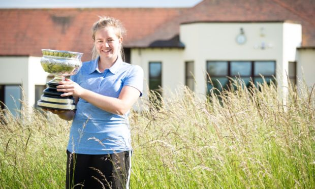 Aboyne's Kimberley Beveridge who won the Scottish women's amateur championship at Kilmarnock Barassie.