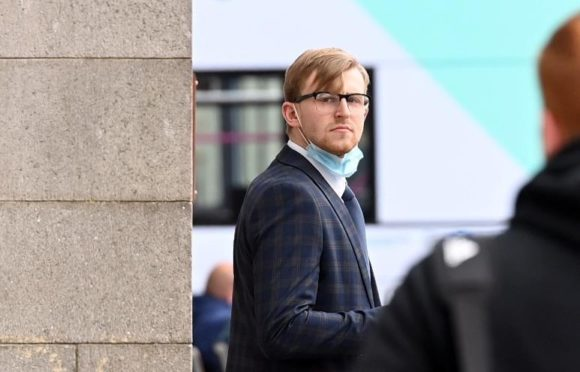 Brodie Thomson outside Aberdeen Sheriff Court