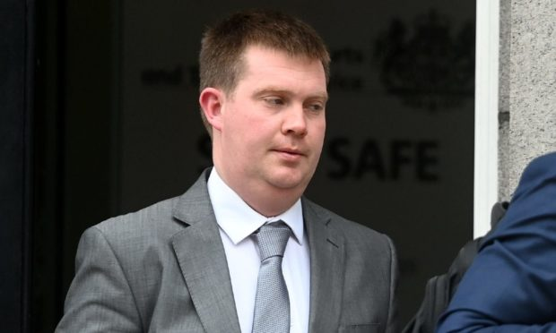 Kieran Malcolmson leaving court.