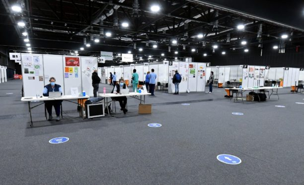 The vaccine centre at P&J Live.