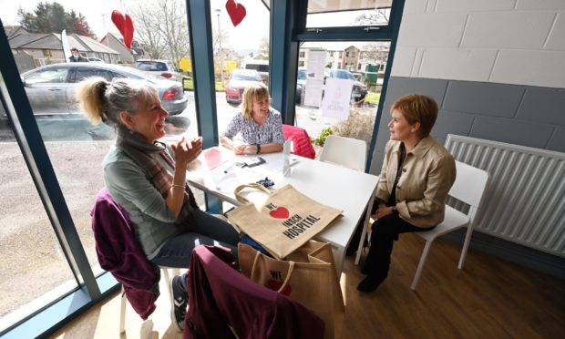 Nicola Sturgeon heard from Insch residents keen for Insch War Memorial Hospital when she visited the village this week