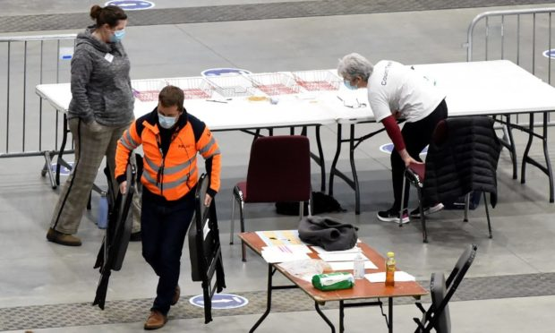 Chairs being replaced at P&J Live after a woman injured her hand early in the count