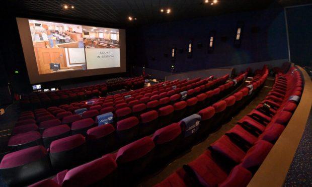 The remote jury centre in the Vue cinema.
