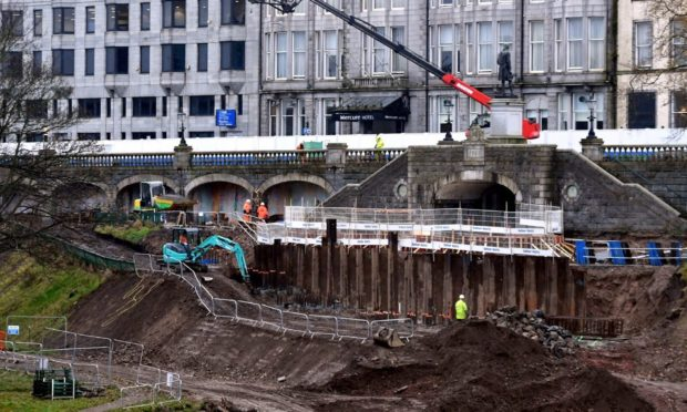 Work has been ongoing at Union Terrace garens as part of a regeneration project.