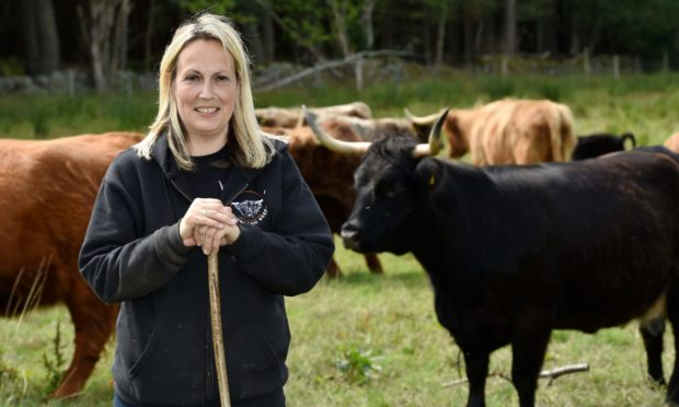 Grace Noble, owner of Aberdeenshire Highland Beef, which offers exclusive farm tours