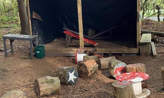 Vandals have trashed a fairy-tale wood in Aberdeenshire