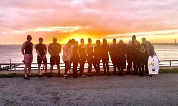 The group at Aberdeen Beach