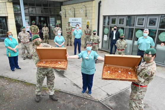 Captain Terry Twining has delivered pizzas to NHS staff for 52 weeks