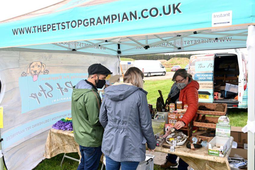 The Petstopgrampian stall