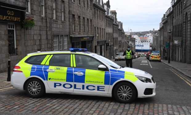 Police incident on Virginia Street. PIC: Kenny Elrick
