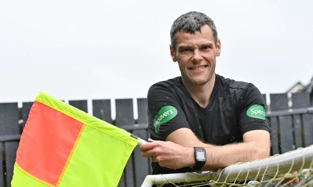 Aberdeen referee Andy Milne will be running the line in the Scottish Cup final.