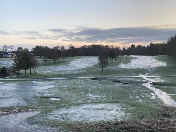 Kemnay Golf Club staff have been locked in a running battle with the weather.