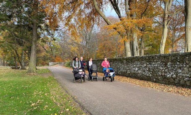 Participants heading out on a Buggy Walk