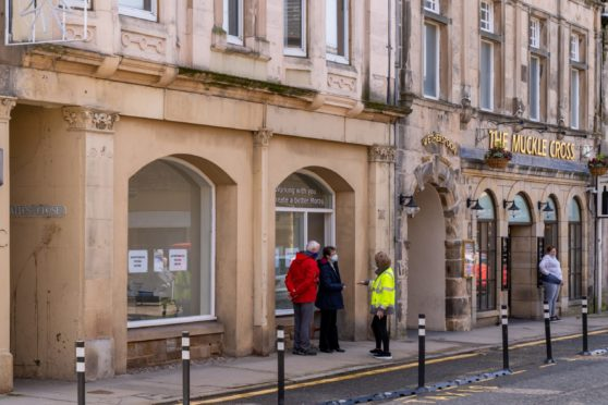 The new test centre set up on Elgin High Street