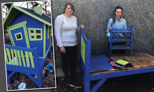 The playhouse was stolen from Aboyne Playgroup