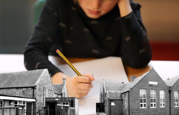 Image of child doing schoolwork
