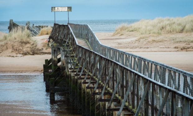 The East Beach bridge in Lossiemouth has stood for more than 100 years.