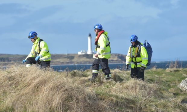 Coastguard search for missing man Clive Hewes in Lossiemouth.  Picture by Jason Hedges 10/03/2020