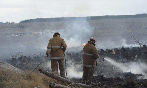 wildfire warning Scotland rural