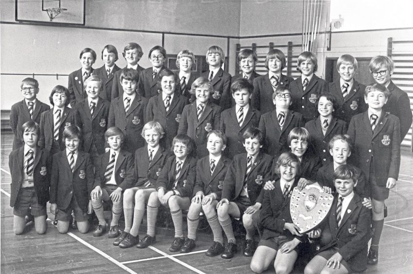 The junior school team won the Scottish Primary Schools Chess Championship – kneeling are Simon Munro, left, and Allan MacLeod with Shaun George, left, and Andrew Wood