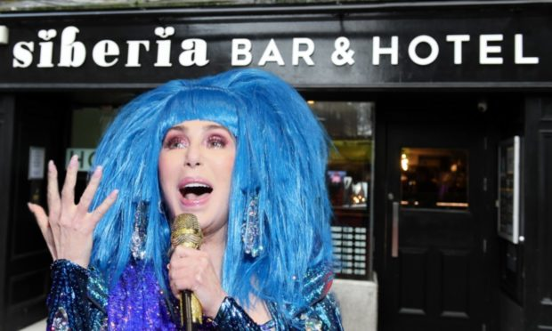 Cher has tweeted her encouragement to staff of Siberia bar and grill in Aberdeen