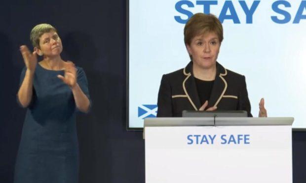 Nicola Sturgeon at the daily briefing 21st May 2021