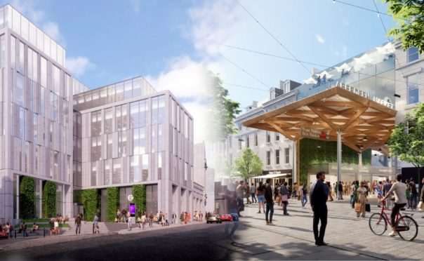 Concept images of a redeveloped Aberdeen Market and BHS in Union Street, being proposed by Aberdeen City Council