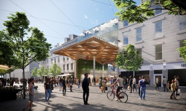 Concept images showing the new frontage of the redeveloped BHS site in Union Street