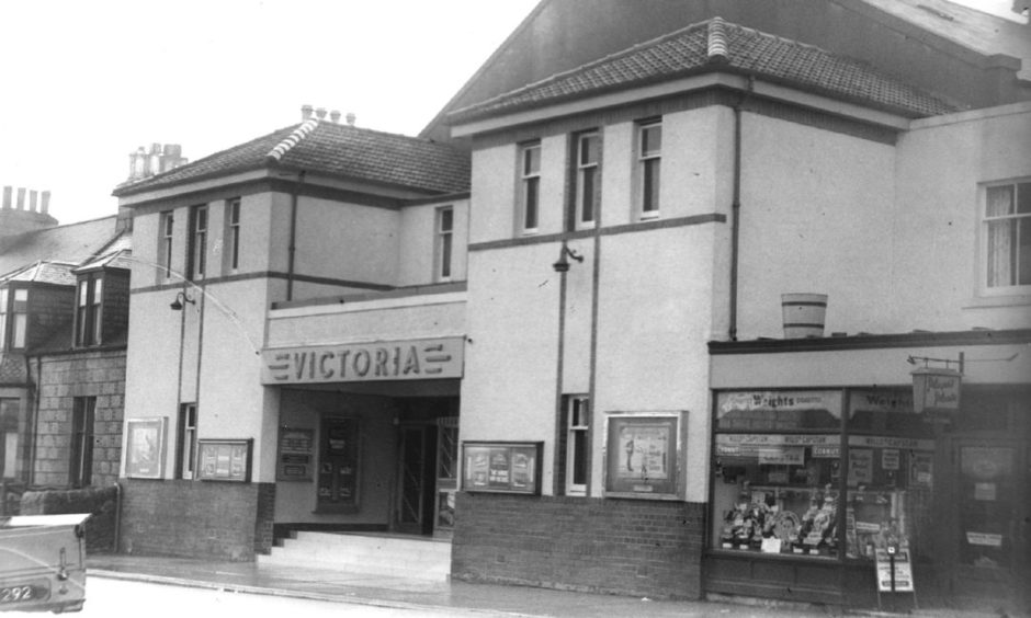 The facade of Inverurie's Victoria Cinema pictured during the mid-20th Century.
